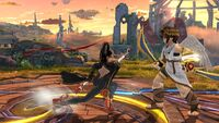 Agarre en Carrera Bayonetta SSB Wii U