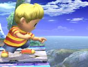 Ataque Smash inferior Lucas SSBB (4)