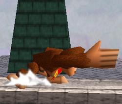 Ataque Smash lateral de Donkey Kong SSB