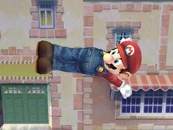 Ataque aéreo hacia atrás Mario SSBB
