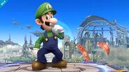 Luigi en Campo de Batalla SSB4 (Wii U)