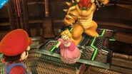 Mario, Peach y Bowser en la Central Geotérmica SSB4 (Wii U)