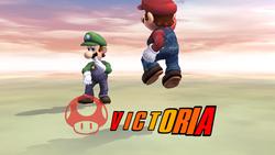 Pose de victoria hacia abajo (2) Mario SSBB
