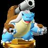 Trofeo de Mega-Blastoise SSB4 (Wii U)