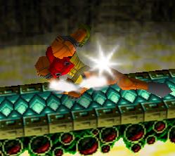 Ataque Smash hacia abajo de Samus (1) SSB
