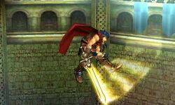 Ataque aéreo hacia adelante Ike SSB4 (3DS)