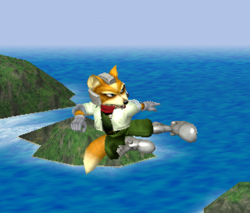 Ataque aéreo normal de Fox SSBM