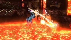 Ataque aéreo normal de Samus Zero (1) SSB4 (Wii U)