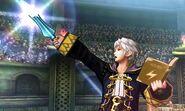Daraen en el Coliseo de Regna Ferox SSB4 (3DS)