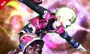 Shulk iniciando su Smash Final SSB4 (3DS)