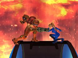 Agarre normal (2) Samus SSBB
