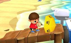 Ataque fuerte lateral Aldeano SSB4 (3DS)