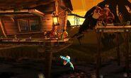 Diddy Kong, Donkey Kong y Pikachu en la Jungla Jocosa SSB4 (3DS)