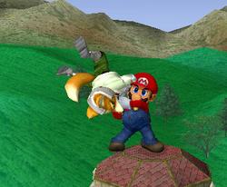 Lanzamiento hacia abajo de Mario (1) SSBM