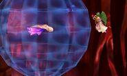 Palutena junto a un Maiva en el modo Smashventura SSB4 (3DS)