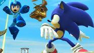 Sonic y Mega Man en Altárea SSB4 (Wii U)