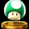 Trofeo de Champiñón vida extra SSB4 (Wii U)