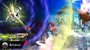 Arceus atacando SSB4 (Wii U)