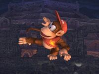 Ataque aéreo trasero Diddy Kong SSBB
