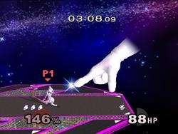 Master Hand Dedo (1) SSBM