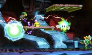 Toon Link en la Smashventura frente a un Hermano Martillo SSB4 (3DS)