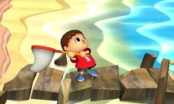 Agarre corriendo Aldeano (2) SSB4 (3DS)