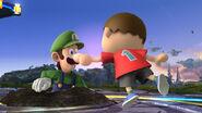 Luigi y el Aldeano en Campo de Batalla SSB4 (Wii U)
