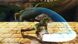 Ataque Smash hacia abajo Link SSBB (1)