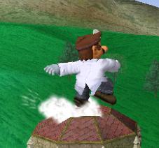 Ataque Smash hacia arriba de Dr. Mario SSBM