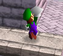 Ataque fuerte hacia arriba de Luigi SSB