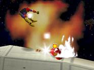 Kirby usando un bate SSB