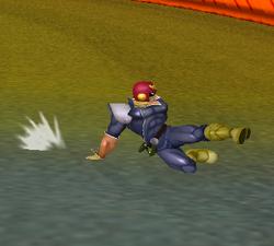 Ataque fuerte hacia abajo de Captain Falcon SSBM
