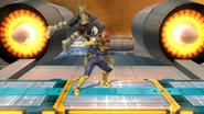 Lanzamiento inferior de Captain Falcon (1) SSB4 (Wii U)