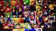 Pantalla de selección de personajes filtrada 25 de agosto 2014 SSB4 (3DS)