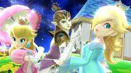 Peach, Estela y Zelda en la Galaxia Mario SSB4 (Wii U)