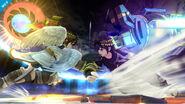 Pit Sombrío usando el Brazal biónico contra Pit SSB4 (Wii U)