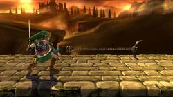Agarre en carrera de Link SSB4 (Wii U)