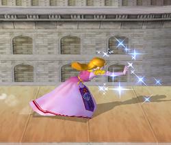 Ataque Smash lateral de Zelda SSBM