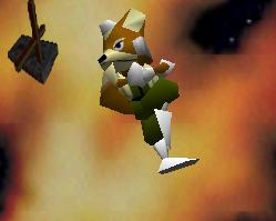 Ataque aéreo hacia abajo de Fox SSB