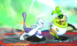 Ataque de recuperación por resbalo Mewtwo (2) SSB4 (3DS)