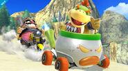 Bowsy y Wario en la Isla Wuhu SSB4 (Wii U)