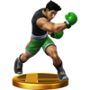 Trofeo de Little Mac SSB4 (Wii U)