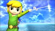 Créditos Modo Senda del guerrero Toon Link SSB4 (3DS)