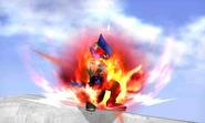 Falco preparando Pájaro de fuego en SSB4 (3DS)