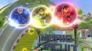 Luchadores Mii en el Circuito Mario (Wii U) SSBU