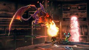 Ridley Bola de fuego SSB4 (Wii U)