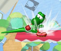 Ataque Smash hacia abajo de Yoshi (2) SSBM