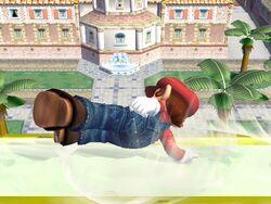 Ataque de recuperación de cara hacia arriba (1) Mario SSBB