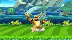 Ataque fuerte hacia arriba de Bowser SSB4 (Wii U)