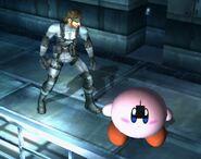 C4 pegado en Kirby SSBB